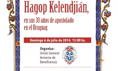 Homenaje al Arzobispo Hagop Kelendjián